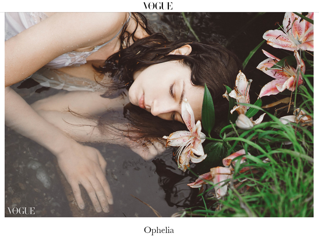 My work for VOGUE ITALIA- Opheli